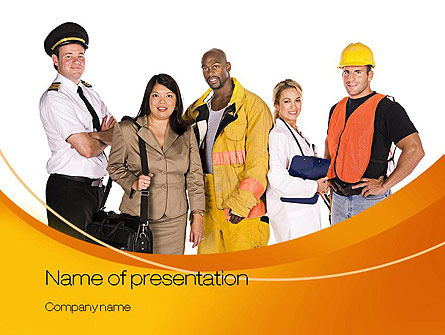 Middle Class PowerPoint Template, 10818, People — PoweredTemplate.com