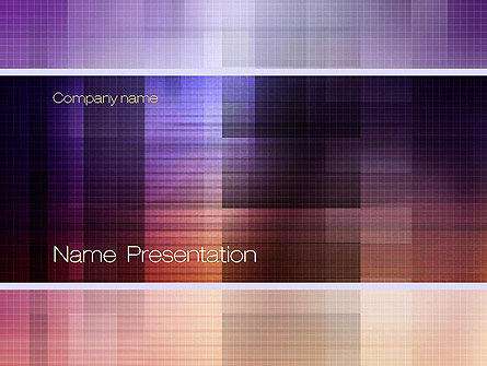 Abstract Squares PowerPoint Template, 10820, Abstract/Textures — PoweredTemplate.com