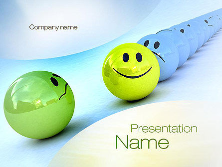 Just a Good Mood PowerPoint Template, 10821, Business Concepts — PoweredTemplate.com