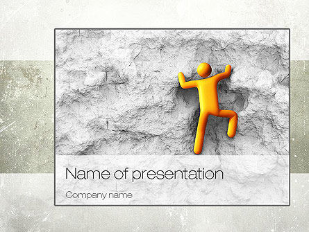 Courageous Climber PowerPoint Template