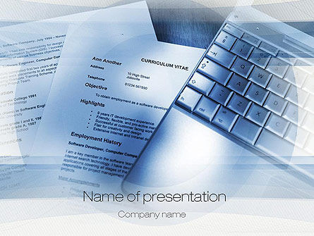 CV Writing PowerPoint Template