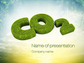 Nature & Environment: CO2 PowerPoint Template #10827