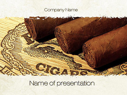Cuban Cigars PowerPoint Template