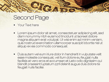 Cuban Cigars PowerPoint Template, Slide 2, 10828, Careers/Industry — PoweredTemplate.com