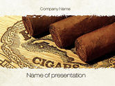 Careers/Industry: Cuban Cigars PowerPoint Template #10828