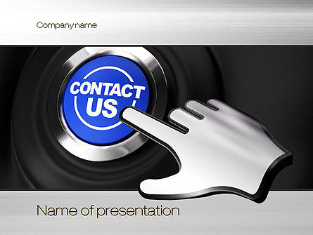 Contact Us Button PowerPoint Template