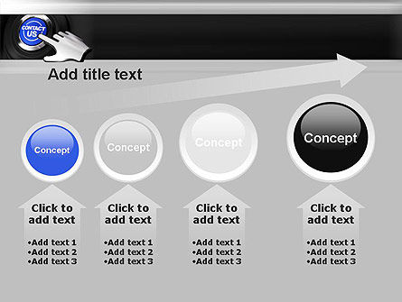 Contact Us Button PowerPoint Template Slide 13