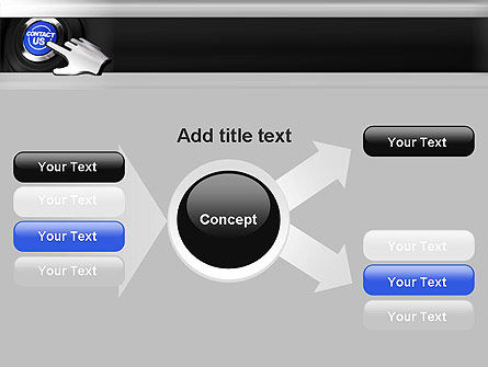 Contact Us Button PowerPoint Template Slide 14