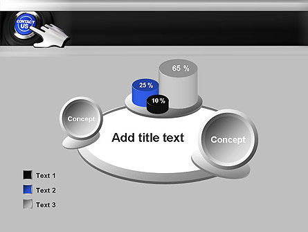 Contact Us Button PowerPoint Template Slide 16