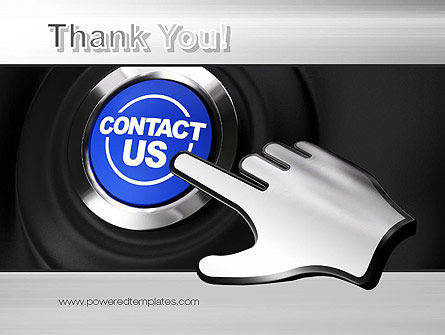Contact Us Button PowerPoint Template Slide 20