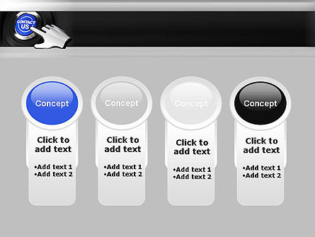 Contact Us Button PowerPoint Template Slide 5