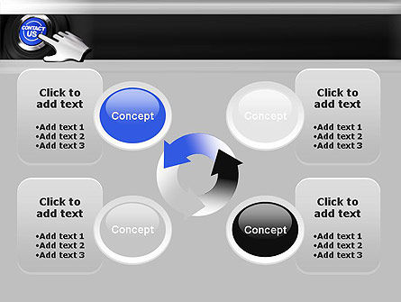Contact Us Button PowerPoint Template Slide 9