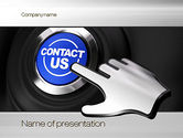 Careers/Industry: Contact Us Button PowerPoint Template #10830