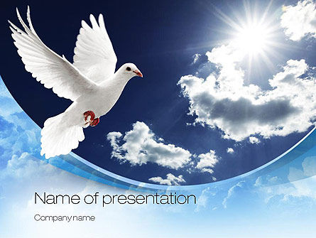 White Dove PowerPoint Template, 10832, Religious/Spiritual — PoweredTemplate.com