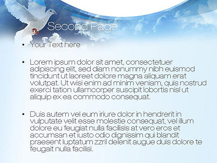 White Dove PowerPoint Template, Slide 2, 10832, Religious/Spiritual — PoweredTemplate.com