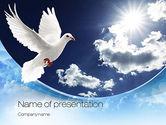 Religious/Spiritual: Modelo do PowerPoint - pomba branca #10832