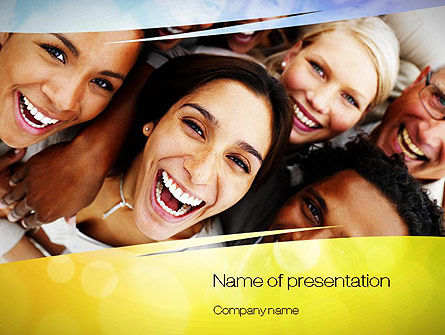 Group of Happy People PowerPoint Template, 10833, People — PoweredTemplate.com