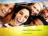 Group of Happy People PowerPoint Template#1