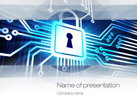Online Security PowerPoint Template, 10834, Technology and Science — PoweredTemplate.com