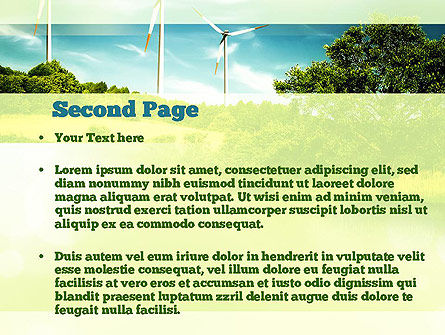 Wind PowerPoint Template, Slide 2, 10835, Technology and Science — PoweredTemplate.com