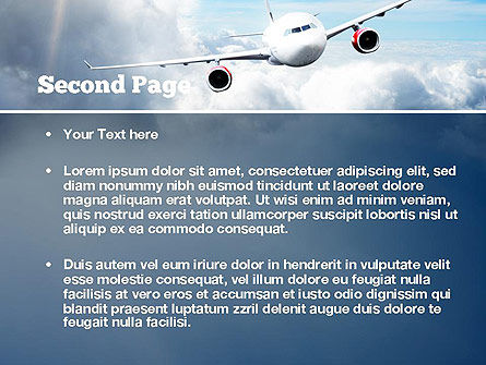 Sky Plane PowerPoint Template, Slide 2, 10836, Cars and Transportation — PoweredTemplate.com
