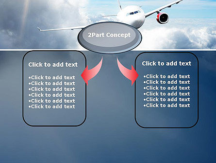 Sky Plane PowerPoint Template, Slide 4, 10836, Cars and Transportation — PoweredTemplate.com