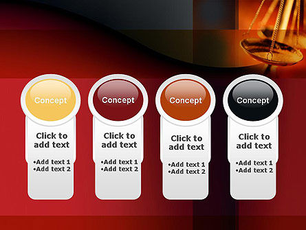 Scales of Justice PowerPoint Template Slide 5