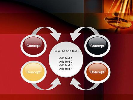 Scales of Justice PowerPoint Template Slide 6