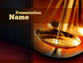 Legal: Scales of Justice PowerPoint Template #10837