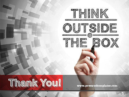 Think Outside the Box PowerPoint Template Slide 20