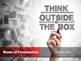 Education & Training: Think Outside the Box PowerPoint Template #10838