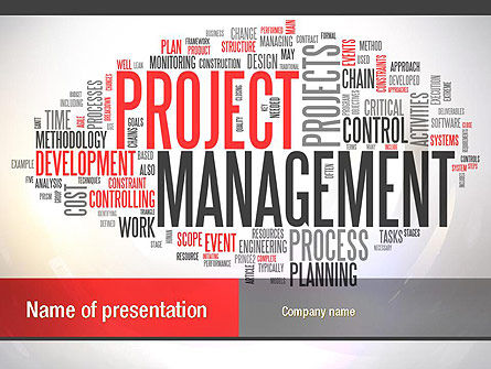 ingredients of project management powerpoint template, backgrounds, Powerpoint templates