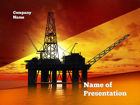 Oil rig powerpoint template backgrounds 10846 poweredtemplate oil rig powerpoint template toneelgroepblik Choice Image