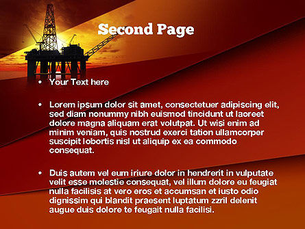 Oil Rig PowerPoint Template Slide 2