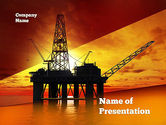 Utilities/Industrial: Oil Rig PowerPoint Template #10846