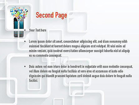 Smartphone Applications PowerPoint Template Slide 2