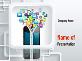 Technology and Science: Smartphone Applications PowerPoint Template #10847