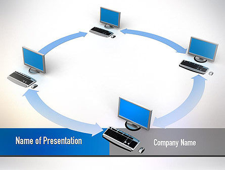 Intranet PowerPoint Template, 10848, Technology and Science — PoweredTemplate.com