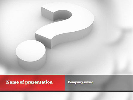 The Most Important Question PowerPoint Template, 10849, Education & Training — PoweredTemplate.com