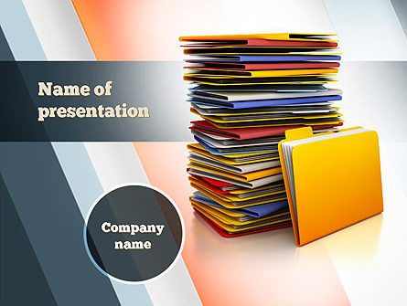 Stack of Folders PowerPoint Template, 10851, Careers/Industry — PoweredTemplate.com