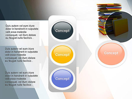 Stack of Folders PowerPoint Template Slide 11