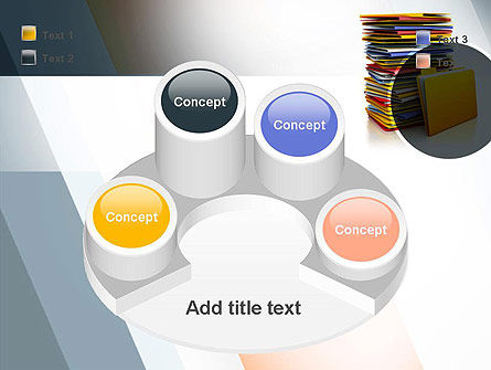 Stack of Folders PowerPoint Template Slide 12
