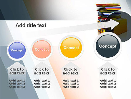 Stack of Folders PowerPoint Template Slide 13
