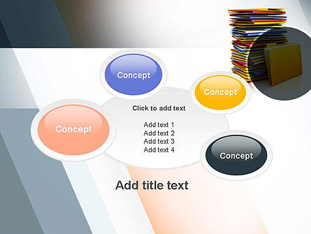 Stack of Folders PowerPoint Template Slide 16