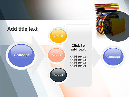 Stack of Folders PowerPoint Template Slide 17