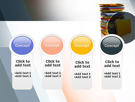 Stack of Folders PowerPoint Template Slide 5
