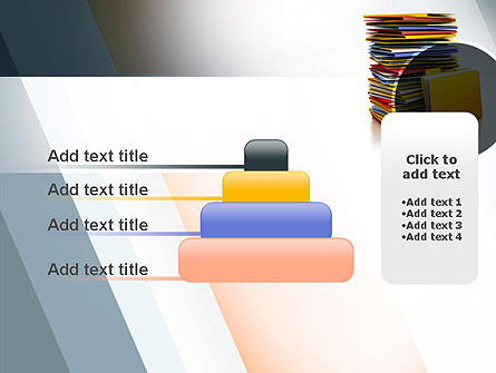 Stack of Folders PowerPoint Template Slide 8