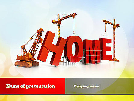 Building Home Concept PowerPoint Template, 10852, Careers/Industry — PoweredTemplate.com