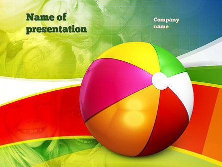 Inflatable Ball PowerPoint Template, 10861, Education & Training — PoweredTemplate.com