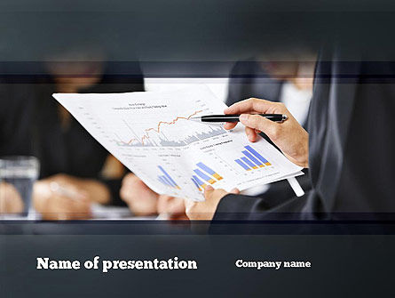 Examining Graphs PowerPoint Template, 10862, People — PoweredTemplate.com